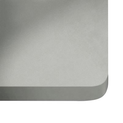 Alzatina su misura Niebla quarzo grigio chiaro H 6 cm