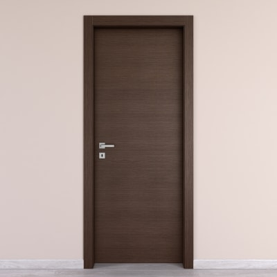 Porta da interno battente Timber Fumo 60 x H 210 cm reversibile