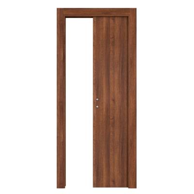 Porta da interno scorrevole One walnut noce 60 x H 210 cm reversibile