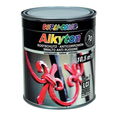Smalto per ferro antiruggine Alkyton grigio RAL 7001 satinato 0,75 L
