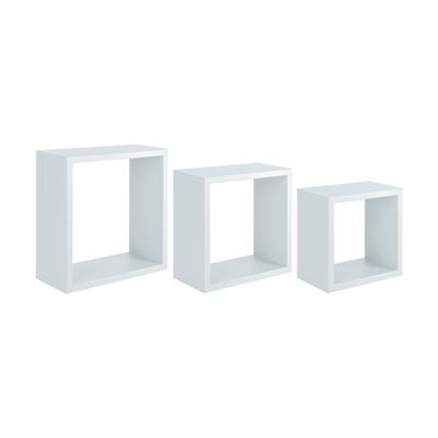 Set 3 cubi Spaceo bianco, sp 1,8 cm