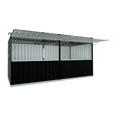 chiosco in metallo Cuba 12,7 m², 2 ribalte