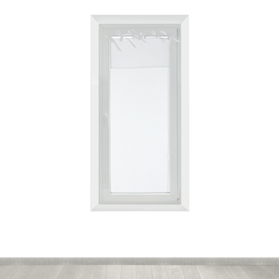 Tendina a vetro per finestra Nouettes bianco 45 x 120 cm