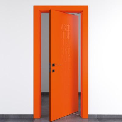 Porta da interno rototraslante Keyboard orange arancio 80 x H 210 cm dx