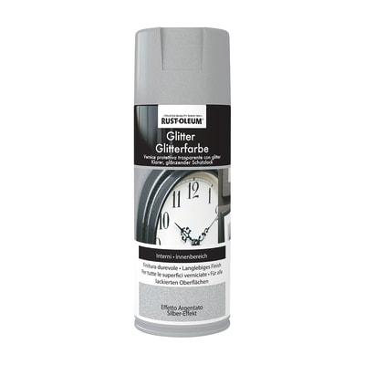 Smalto spray Glitter Rustolium argentato brillante 400 ml