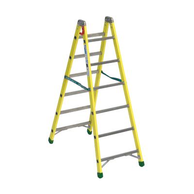 Scala doppia alluminio Facal 6 gradini, per lavori fino a 3 m