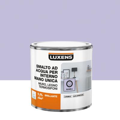 Smalto manounica Luxens all'acqua Viola Elisir 6 brillante 0.5 L