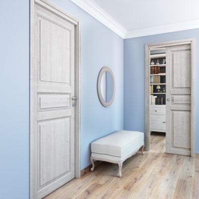 Porta da interno scorrevole Beethoven white 80 x H 210 cm reversibile