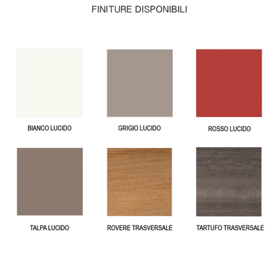 Base/Pensile Remix 1 anta L 45 x P 35 x H 58 cm bianco/tartufo