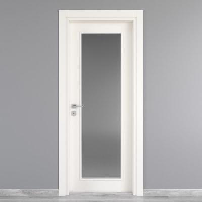 Porta da interno battente Moma Vetro bianco 90 x H 210 cm dx