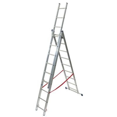 Scala sfilo alluminio Facal 3x9 gradini, per lavori fino a 6,8 m
