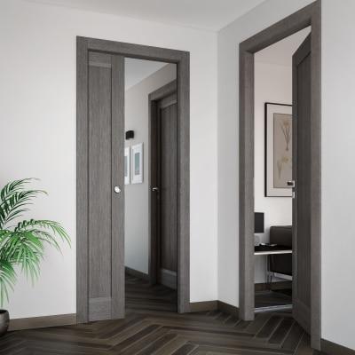 Porta da interno battente Zaniah tabacco 60 x H 210 cm dx