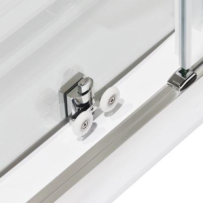 Box doccia scorrevole Quad 67.5-69 x 67,5-69, H 190 cm cristallo 6 mm serigrafato/silver