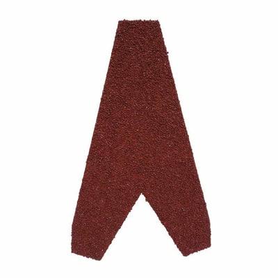 Finale per lastra Easy Tuile in acciaio zincato ricoperto con granuli di pietra color rosso 11,5 x 21 cm
