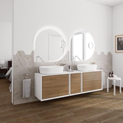 Mobile bagno Devon rovere L 176 cm