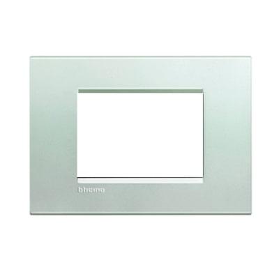 Placca 3 moduli BTicino Livinglight argento