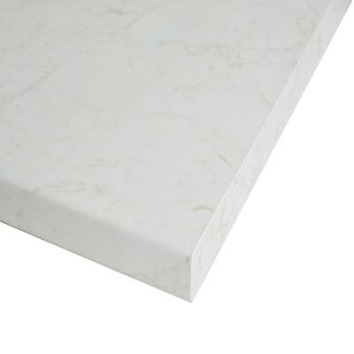 Piano cucina su misura laminato Marmo Onice bianco 6 cm