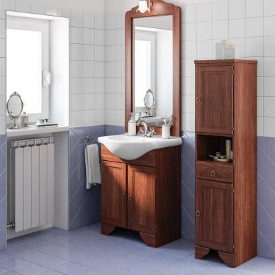 Mobile bagno Laura marrone L 65 cm