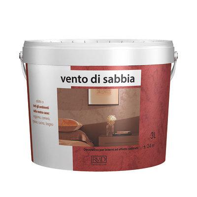 Pittura ad effetto decorativo Vento di sabbia Terra Rossa 3 L