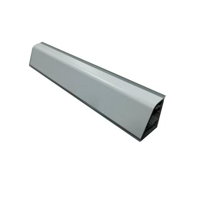 Alzatina su misura Botticino alluminio marrone H 4 cm