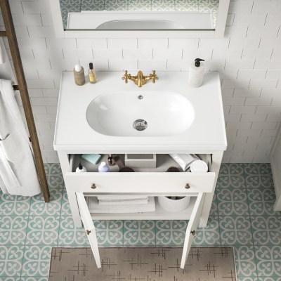 Mobile bagno Charm bianco L 80 cm
