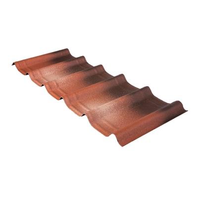 Tegola Onduvilla confezione 2.17 mq colore terracotta anticata in bitume 107 x 40  cm, spessore 3 mm