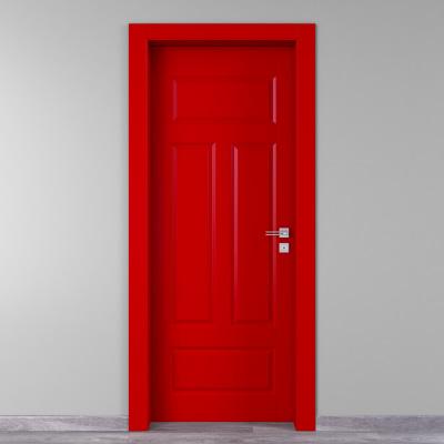 Porta da interno battente Coconut Groove rosso 90 x H 210 cm sx