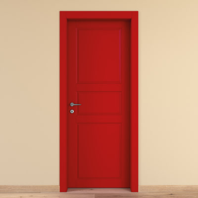 Porta da interno battente New York rosso 60 x H 210 cm dx