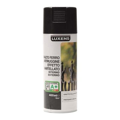 Smalto per ferro antiruggine spray Luxens nero martellato 0,4 L