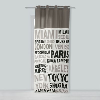 Tenda In the city grigio 140 x 270 cm