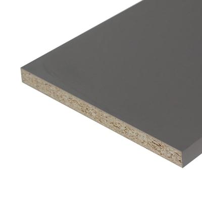 Pannello melaminico grigio 25 x 600 x 2500 mm