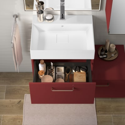 Mobile bagno Neo Line L 60 x P 48 x H 32 cm 1 cassetto marsala
