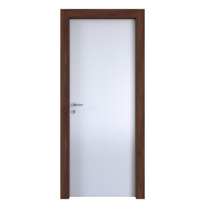 Porta da interno battente One bianca/brown 60 x H 210 cm reversibile