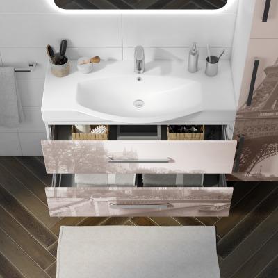 Mobile bagno Virginia bianco L 104 cm