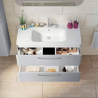 Mobile bagno Best grigio L 101 cm