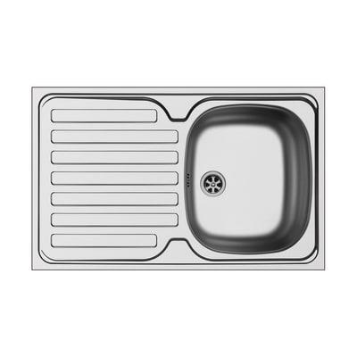 Lavello appoggio Dioniso L 80 x P  50 cm 1 vasca + gocciolatoio