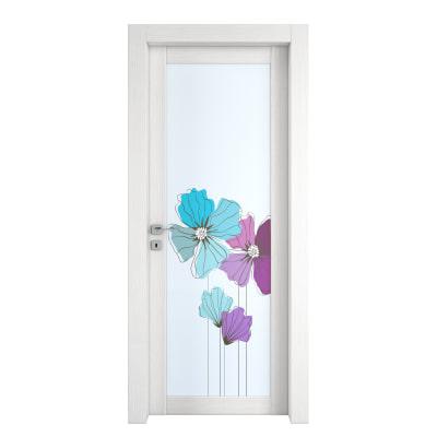 Porta da interno battente Eden larice bianco 60 x H 210 cm dx