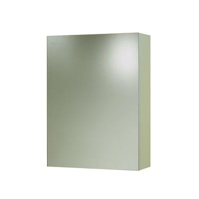 Armadietto a specchio Stoccolma L 45 x H 60 x P  17 cm bianco lucido