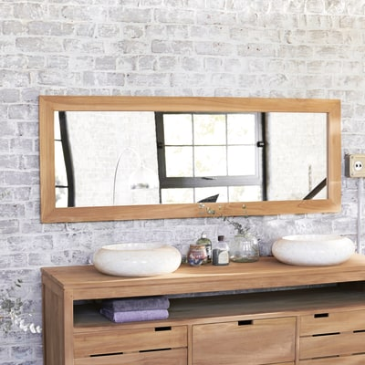 Specchio Tikamoon in teak tona 160 x 60 cm