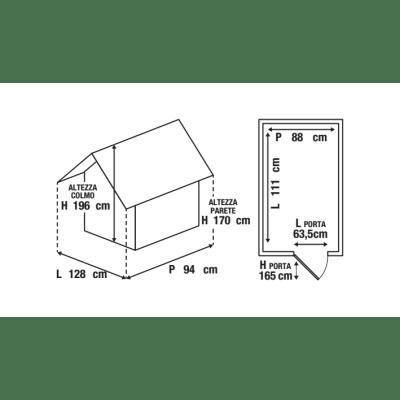 casetta in polipropilene Lineus 4x3 0,98 m²