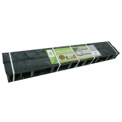 Bordo plastico per posa autobloccanti 9 x 100 cm Geobordo 4 pezzi, spessore 7,8 cm