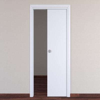 Porta da interno scorrevole Pearl bianco 80 x H 210 cm reversibile