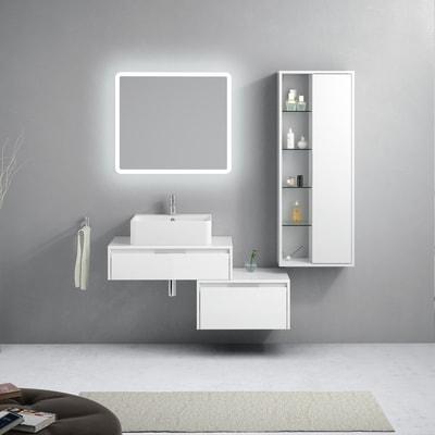 Mobile bagno Trevi bianco L 160 cm
