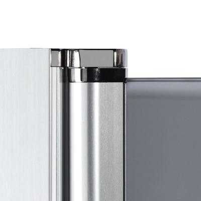 Doccia con porta battente e lato fisso Neo 67 - 69 x 77 - 79 cm, H 200 cm vetro temperato 6 mm serigrafato/bianco opaco
