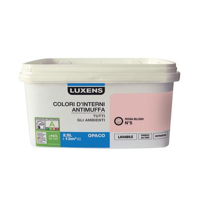 Idropittura lavabile Antimuffa Rosa Blush 5 - 2,5 L Luxens