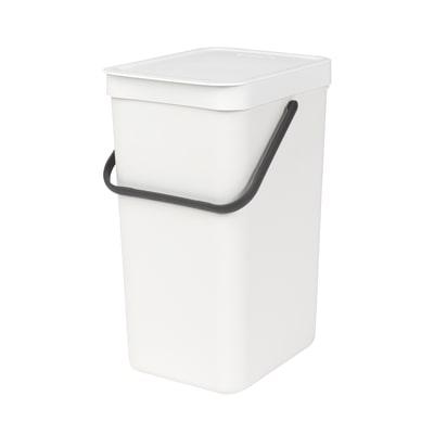 Pattumiera Sort & Go da incasso 16 L bianco