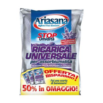Ricarica sali assorbiumidità Ariasana 3 x 450g profumo lavanda