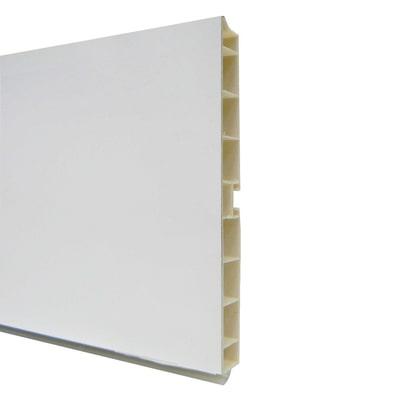 Zoccolino H 10 cm bianco L 300 cm