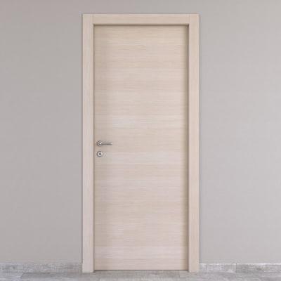 Porta da interno battente Grain rovere grano 80 x H 210 cm reversibile