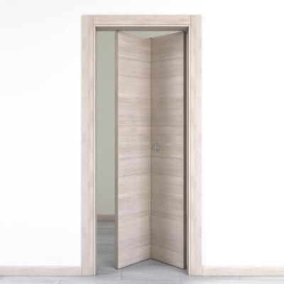Porta da interno pieghevole Resort larice ghiaccio 80 x H 210 cm dx